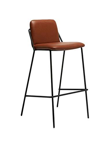 Barstoolri barkruk, Scandinavische metaalstijl, kunstleer, hoge stoel voor huis, kantoor, tuin 75cm