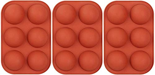 6-Hole Chocolate Making Silicone Mold, Semi-Circular Candy Cake Pudding, Baking Mold, Creative DIY...