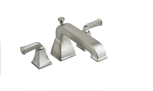 American Standard 2555.920.295 Town Square Deck-Mount Tub Filler with Metal Lever Handles, Satin Nickel