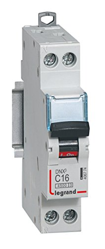 Legrand DNX 4500 C Courbe disjoncteur avec vis, U + N 230 V 4.5 ka 1 m, gris