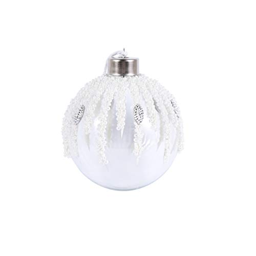 Amosfun weihnachtsglaskugel weihnachtsbaumkugel Ornament hängend weihnachtsbaumschmuck weihnachtsfeierdekoration 8cm