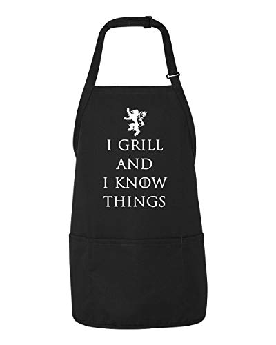 Panoware Funny BBQ Grilling Apron for Men | I Grill and I Know Things