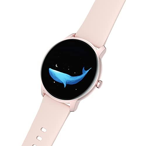 BNMY Smartwatch Relojes Inteligentes Hombre,Reloj Digital Caloría, 1.28 Pulgadas con Ritmo Cardíaco,Sueño, Pulsera De Actividad Inteligente con iOS Android,Rosado