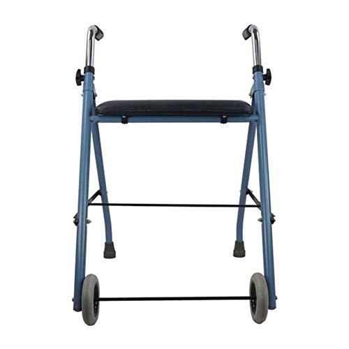 LXDDJZXQ Gehhilfe Gehgestell, Ältere Gehhilfe Patientenrehabilitation Gehhilfe Behinderte Gehhilfe, Falten Leicht Einstellbare Gehhilfe Fahren Medizinisch