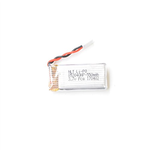 Islandse❤ 1Pcs 3.7V 550mAh Battery Drone JXD 523 RC Quadcopter Spare Parts Toy Battery White