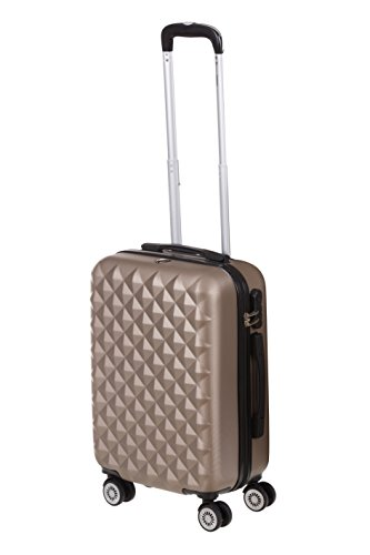 Hartschale Handgepäck Trolley Koffer Monaco Gr. M, 56cm, 42 Liter mit 360° Rollen und Zahlenschloss (iced Coffee)