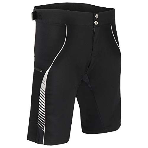 BERKNER Olaf E-Bike-Shorts, Radshorts mit Gelpolster, bis Gr. 6XL / 62 (schwarz, 6XL)