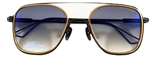 Dita System One Sonnenbrille Modell DTS 103 mit gold-schwarzem Rahmen und grauer Verlaufslinse