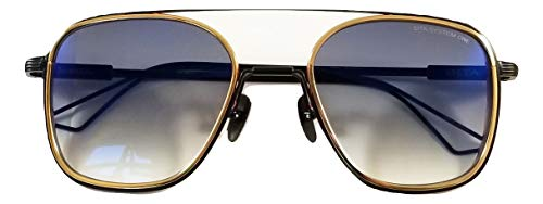 Dita System One Occhiali da sole Modello DTS 103 con montatura oro-nero e lente sfumata grigia