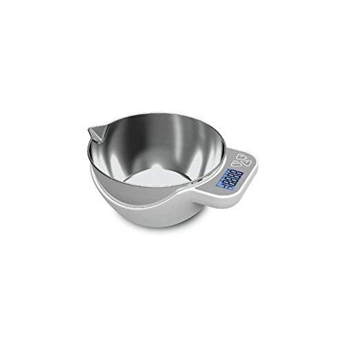 Peso digital de cocina 5Kg Thulos cuenco acero inoxidable funcion TARA max 5kg