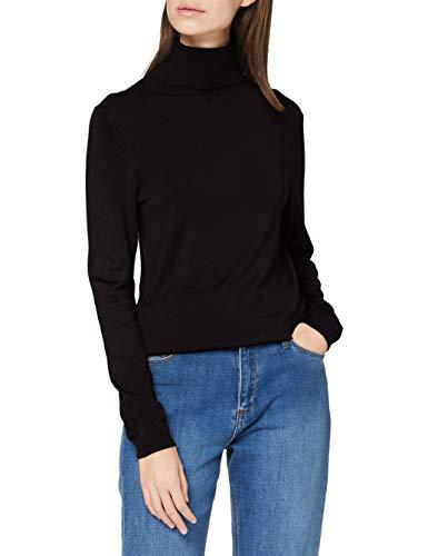 Esprit 090EE1I303 Pullover Damen, Schwarz (001/BLACK), S