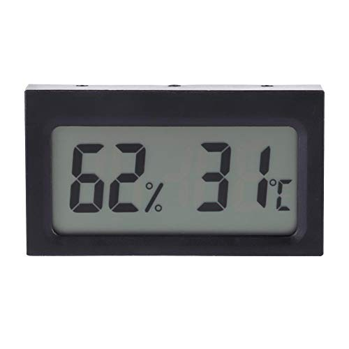 Asixx LCD Digital Termómetro Y Higrómetro, Medidor de Temperatura de Humedad,Pantalla LCD,para Casas,Oficinas,Talleres,Escuelas,Mercados,Almacenes,Etc.