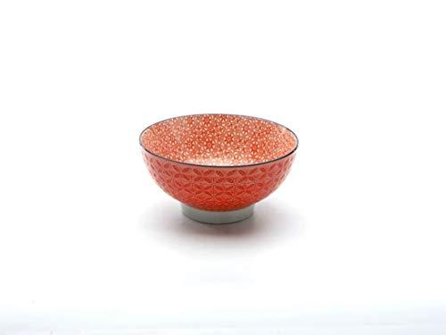 Neu Müslischale Dessertschale Salatschüssel Mediterran | Steinzeug | Rot | Ø 15 cm …