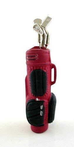 Bolsa de Golf roja Accesorio Miniatura casa de muñecas Escala 1:12 con Palos