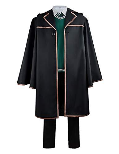Zhangjianwangluokeji Harry Cosplay Kostüm Halloween Potter Magic Cloak Komplettset für Erwachsene (Schwarz, XXL)