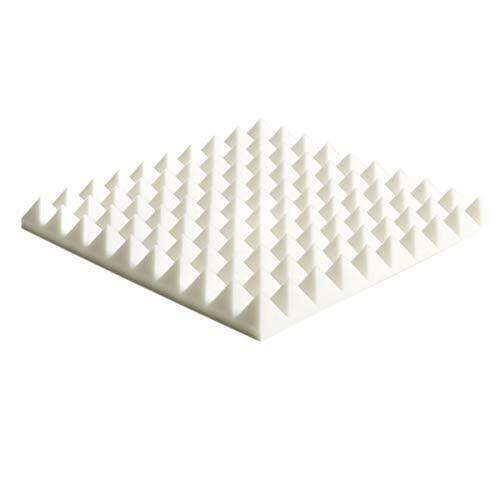ZX Pannelli Fonoassorbenti Piramidali 50x50x5 Cm (10 Pezzi) Acustica Fonoassorbente(Color:Bianca)