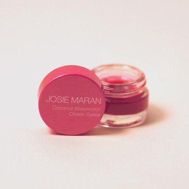Josie Maran Coconut Watercolor Cheek Gelee (Travel (.095oz/2.7g), Pink Escape)