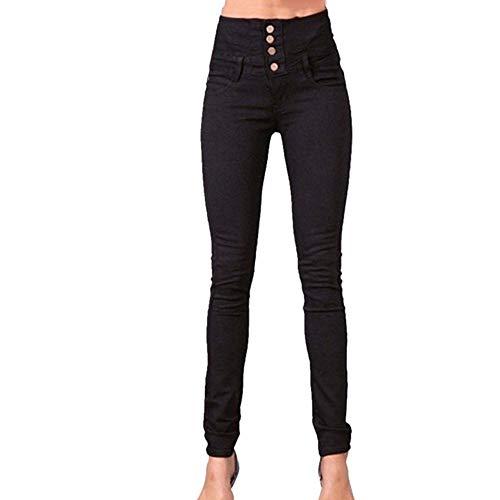 NP Groothandel Vrouw Denim Potlood Broek Top Stretch Jeans Hoge Taille Broek Vrouwen Hoog - zwart - XXL