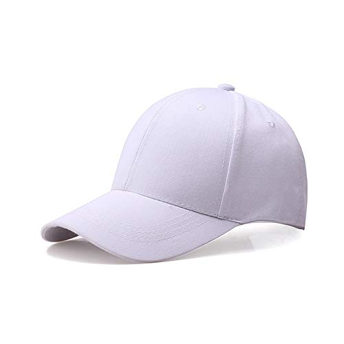JXLLC Unisex UV-Schutz Schweißband Sportmütze Leichter Superlite Verstellbarer Hut, Sommer schnell trocknend Baseballkappe Outdoor Run Cap für eine Größe (weiß)