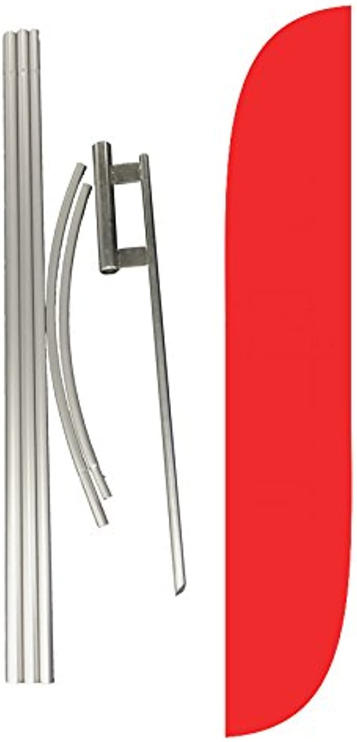 LookOurWay Verizon Complete Set Feather Flag with Pole and Ground Spike, Red