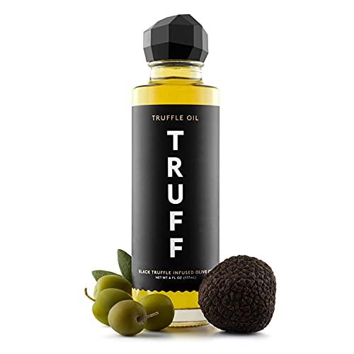 TRUFF Oil - Black Truffle Infused Olive Oil - Gourmet Dressing, Seasoning, Marinade, or Drizzle, Non-GMO, Gluten-Free, 6 fl.oz.