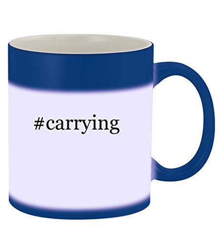 #carrying - 11oz Hashtag Magic Color Changing Mug, Blue