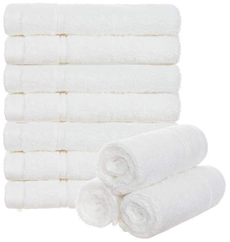 Brandsseller 10er Set Seiftücher Waschlappen Gästehandtücher Frottee Bad/Haushalt 30x30cm 100% Baumwolle 470 g/qm Weiss