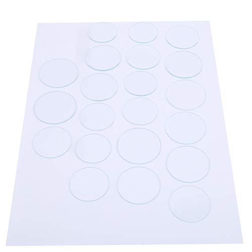Lente facial, lente de cristal de reloj plana sin arañazos 21 piezas 35-45 mm para industria para campo profesional