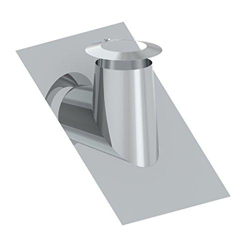 Preisvergleich Produktbild Ø 150 mm Schornstein - Dachdurchführung 36° - 45° mit Bleirand inkl. Wetterkragen
