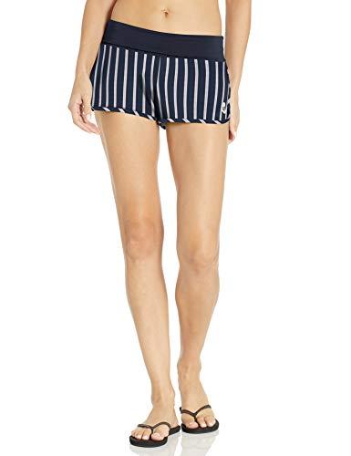 Roxy Women's Endless Summer Print Boardshort, Evening Sand Sporty Stripes Sample, S
