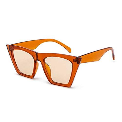 Nobrand Gafas de sol Gafas cuadradas Ojos de gato personalizados Gafas de sol coloridas Gafas de sol versátiles con tendencia Cortina UV400