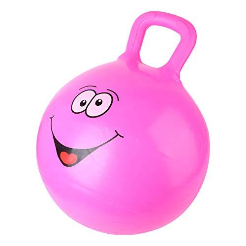 WINOMO Hopper Ball Hüpfball mit Griffen Balance Ball Und Ball Stuhl für Kinder Drinnen Und Draußen Spielzeug Rosig