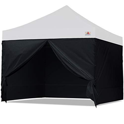 ABCCANOPY Sidewall Kit,Canopy Tent Side Walls 10x10,4 Walls ONLY (Black)
