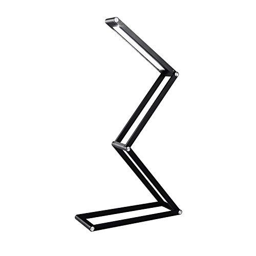 Infitronic - INLEDPLB - wiederaufladbare faltbare dimmbare LED Aluminiumlegierung Klavierlampe Klavierleuchte Leselampe Buchlampe Tischleuchte Schreibtischleuchte Schwarz