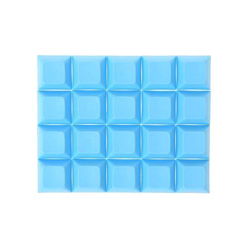 Removedor de Llavero KeyCaps 1U Blank Impress KeyCaps para Juegos mecánicos mecánicos Pusher KEYCAP para Teclado MECÁNICO (Color : Blue)