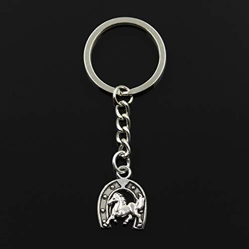 N/A sleutelhanger 23 x 18 mm paard hoefijzer hanger knutselen mannen sieraden auto sleutelhanger ring geschenk