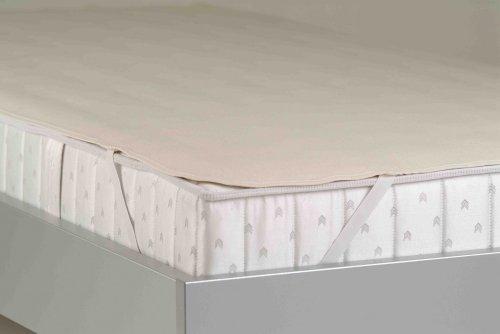 BNP Bed Care Matratzenschoner Molton Matratzenauflage Orchidee, 100{f2d57c9baa890d24791e8055c1863a7b935dfb6e6c71f80427100fc36ab17691} Baumwolle, beige, 100 x 190 cm