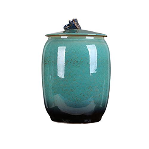Frascos de arroz de cerámica Cubos de arroz latas de té con Tapa Cajas de arroz Tanques de Agua domésticos a Prueba de Humedad