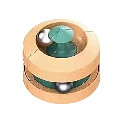 Seinosuke Mármoles de Metal de Nueva Calidad Divertidos y emocionantes Juguetes educativos mármoles giratorios yema de los Dedos Toy de descompresión de ventilación Superior Yellow