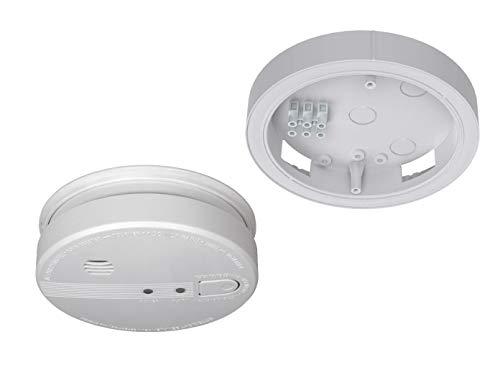 Netbare rookmelder met 230 V aansluiting + reservebatterij, 85 dB alarm, met praktische Easy & Clean magneetmontage.