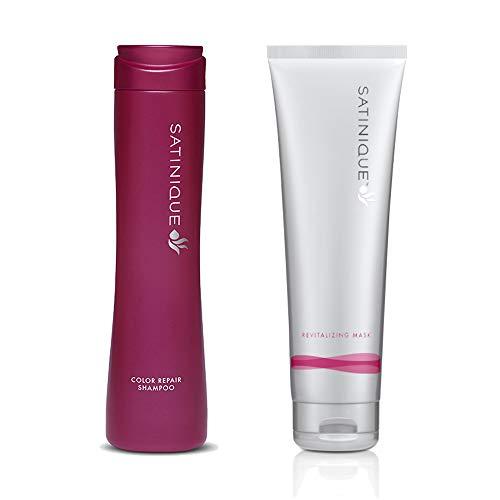 Tratamiento Reparador del color del cabello- Champu Raparador SATINIQUE 280 ml. y Mascarilla Revitalizante SATINIQUE 240 ml.