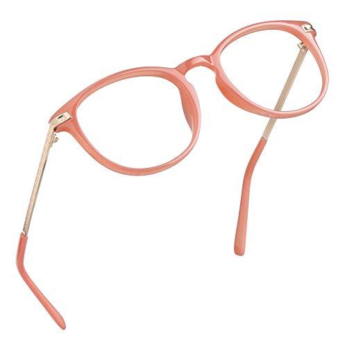 LifeArt Blu-ray-Brillen, Lesebrille für Computer, transparente Linse, Kopfschmerzen reduzieren & trockene Augen verhindern, Mode für Männer/Frauen +1.50
