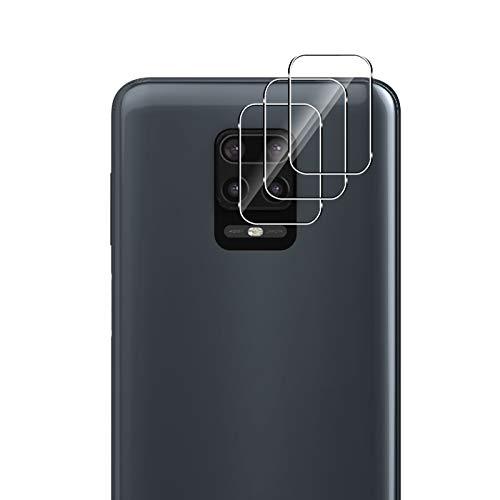 QULLOO Cámara Trasera Lente para Xiaomi Redmi Note 9s / Note 9 /Note 9 Pro, [3 Piezas] [Alta definición] [Dureza 9H] Cámara Protector Pantalla