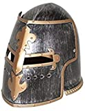 Nicky Bigs Novelties Medieval Knight Helmet Costume Headwear Accessory, Pewter, One Size Silver