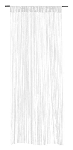 Fadenvorhang Fadengardine Türvorhang | Weiß | 110x250 cm | Polyester