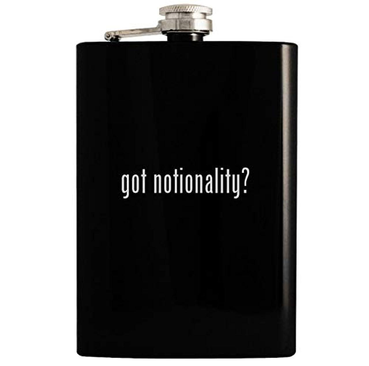 got notionality? - 8oz Hip Drinking Alcohol Flask, Black