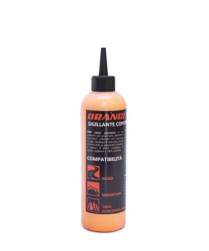PMP Orange Latex - Lattice Liquido Sigillante Antiforatura per Coperture Tubeless MTB e Strada - Bottiglia 300 ml