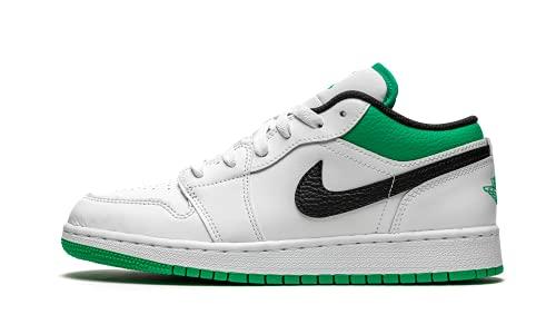 Jordan Youth Air 1 Low GS 553560 129 White/Stadium Green - Size 6.5Y