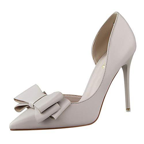 Holywin Schuhe Damen Pumps Sweet Bowknot High Heels Schuhe Sexy Dünne Spitzen Einzelne Schuhe