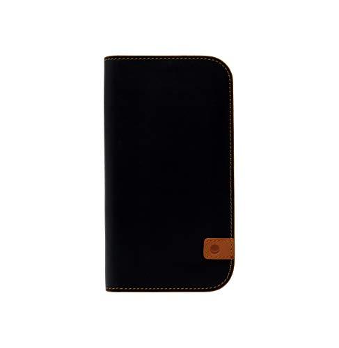 Beyzacases Naturall - Funda de Piel Tipo Cartera para iPhone 7 y 8, Color Negro